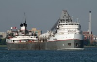The Saginaw, destined for Stoneport Michigan, is upbound on the Detroit River at Windsor.