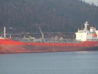 Eitzen Chemical boat Songa Defiance delivering Caustic Soda to Marathon Pulp for Dow Chemical ; Marathon, Ontario