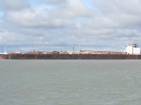 The St. Clair heads downriver at Sarnia.