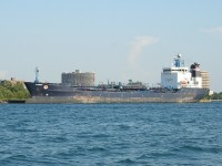 The tanker Algosea tied up at Sarnia for layover or maintenance.