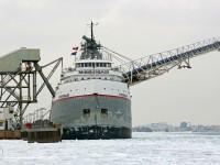 The Mississagi loads salt at the Windsor Salt facility on the Detroit River in Windsor January 19, 2011.