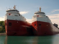 It's mid season and time for some boats to enter layup, usually the first to lay up are the older ships of the fleet. Here are CSL's Tadoussac and Frontenac in the north slip at Sarnia.