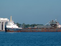 Algomarine sailing upbound in the St. Clair river at Sarnia, somewhat of a rare ship these days I can only hope to see it again before these classics are gone for good. Fleet mate and sister ship Algosteel remains laid up this season.