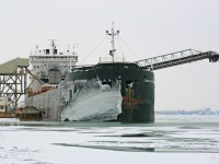 The Canadian Enterprise takes on a late season load of Salt bound for Chicago at Windsor's Canadian Salt dock.