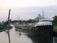 James Norris exits lock 8 upbound in the Welland Canal.