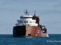 Lokking as beautiful as ever the classic Kaye E. Barker down bound at buoys 1 & 2 in the Lake Huron cut.